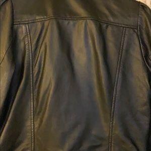 Mango Jackets & Coats - Women's genuine black leather jacket. Size small.